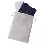 ノベルティ・粗品で人気の「シャンブリック巾着(L) グレー」