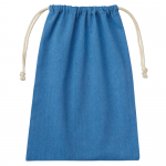 ノベルティ・粗品で人気の「シャンブリック巾着(L) ブルー」
