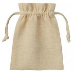 ノベルティ・粗品で人気の「コットンリネン巾着(S) ナチュラルベージュ」