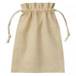 ノベルティ・粗品で人気の「コットンリネン巾着(M) ナチュラルベージュ」