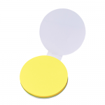 ノベルティ・粗品で人気の「カスタムデザイン付箋 丸 (フルカラー印刷費用含む)」
