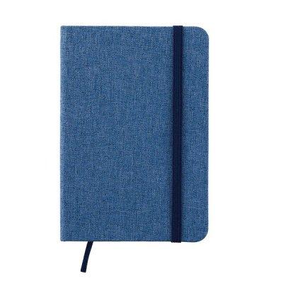 ノベルティ・粗品で人気の「ファブリックノートブック(ブルー)」