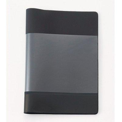 ノベルティ・粗品で人気の「【国産】カラフルカバー付きノートB5(ブラック)」