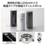 【レーザー印刷費用含む】超軽量ステンレスボトル250ml 1個