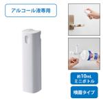 ノベルティ・粗品で人気の「携帯用スプレーボトル10ml(アルコール対応)ホワイト」