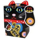 招き猫ティッシュ40W黒
