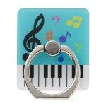 ノベルティ・粗品で人気の「 ピアノライン スマホリング(カラフル音符) 」