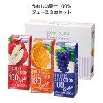 ノベルティ・粗品で人気の「果汁100%フルーツジュース3本セット」