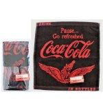 ノベルティ・粗品で人気の「コカ・コーラ ウイング ウオッシュタオル(ポケット付透明袋入)」