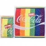 ノベルティ・粗品で人気の「コカ・コーラ レインボー ウオッシュタオル(ポケット付透明袋入)」