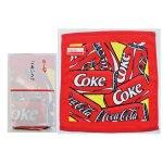 ノベルティ・粗品で人気の「コカ・コーラ カン ウオッシュタオル(ポケット付ごあいさつ袋入)」