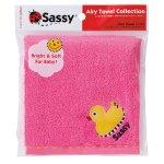 ノベルティ・粗品で人気の「 Sassy(サッシー) ミニタオル/ピンク」