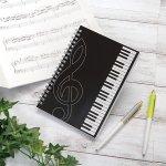 ノベルティ・粗品で人気の「ピアノライン リングノート B6(鍵盤)」