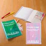 ノベルティ・粗品で人気の「ピアノライン ポケット付きカバーノート 1個」