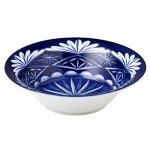 切子写し藍陶器・大鉢