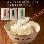 ノベルティ・粗品で人気の「お米の味くらべ/3種セット」