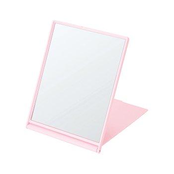 ノベルティ・粗品で人気の「 マットスクエアミラー(L)/ピンク」