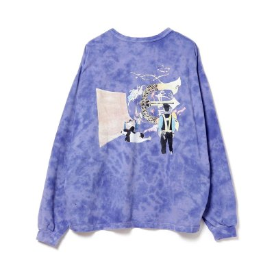 EVISEN × HOLE AND HOLLAND / ROLL IN LS T-SHIRT TIE DYE