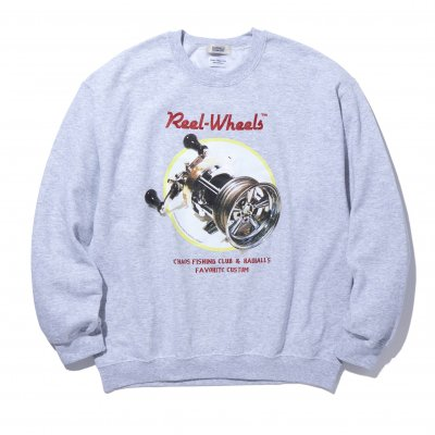 CHAOS FISHING CLUB x RADIALL / GAMBLING HOURS - CREW NECK SWEATSHIRT / 3colors