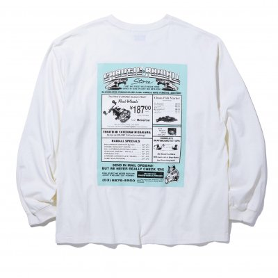 CHAOS FISHING CLUB x RADIALL / GAMBLING HOURS - CREW NECK LS Tee / 3colors
