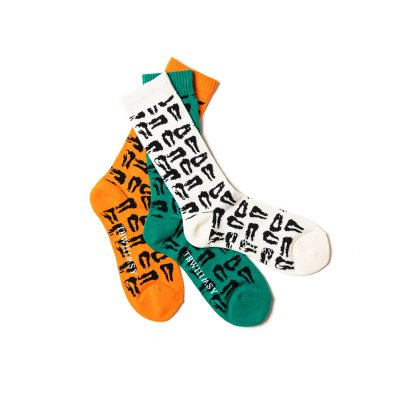 TIGHTBOOTH / MAD COW FOOTPRINT SOCKS(TIGHTBOOTH x WHIMSY SOCKS)/ 3colors
