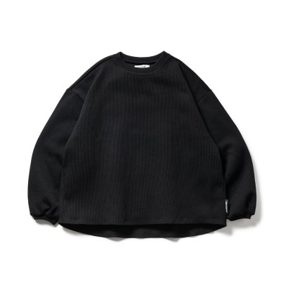 TIGHTBOOTH / WAFFLE CREW KNIT / 3colors