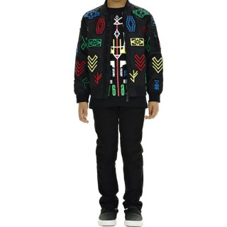 <img class='new_mark_img1' src='https://img.shop-pro.jp/img/new/icons1.gif' style='border:none;display:inline;margin:0px;padding:0px;width:auto;' />Marcelo burlon Kids(マルセロバーロン キッズ)|KIDS OF MILAN|PATAGONIA Bomberブルゾン|ブラック