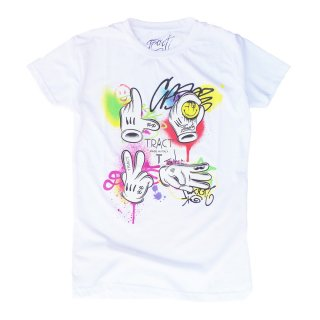 Tract|トラクト 通販|大阪正規取扱店舗|最短翌日着|LOVEプリント 半袖Tシャツ|ホワイト