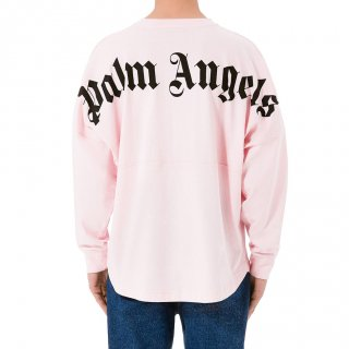 <img class='new_mark_img1' src='https://img.shop-pro.jp/img/new/icons1.gif' style='border:none;display:inline;margin:0px;padding:0px;width:auto;' />Palm Angels|パームエンジェルス メンズ通販|大阪正規取扱店舗|最短翌日着|LOGO OVER長袖Tシャツ|ピンク