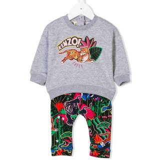 <img class='new_mark_img1' src='https://img.shop-pro.jp/img/new/icons1.gif' style='border:none;display:inline;margin:0px;padding:0px;width:auto;' />KENZO KIDS |ケンゾーキッズ 子供服 通販|大阪正規取扱店舗|TIGER プリントスウェット・レギンスセット|グレー