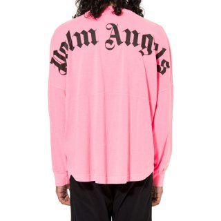 <img class='new_mark_img1' src='https://img.shop-pro.jp/img/new/icons1.gif' style='border:none;display:inline;margin:0px;padding:0px;width:auto;' />Palm Angels|パームエンジェルス メンズ通販|大阪正規取扱店舗|最短翌日着|LOGO OVER長袖Tシャツ|ネオンピンク