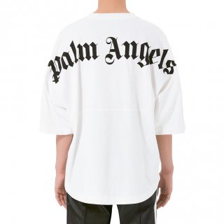 <img class='new_mark_img1' src='https://img.shop-pro.jp/img/new/icons1.gif' style='border:none;display:inline;margin:0px;padding:0px;width:auto;' />Palm Angels|パームエンジェルス メンズ通販|大阪正規取扱店舗|最短翌日着|LOGO OVER半袖Tシャツ|ホワイト