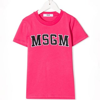 <img class='new_mark_img1' src='https://img.shop-pro.jp/img/new/icons1.gif' style='border:none;display:inline;margin:0px;padding:0px;width:auto;' />MSGM KIDS|エムエスジーエムキッズ 通販|大阪正規取扱店舗| ワッペンロゴ半袖Tシャツ|ピンク