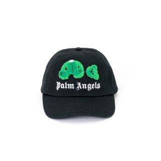 <img class='new_mark_img1' src='https://img.shop-pro.jp/img/new/icons1.gif' style='border:none;display:inline;margin:0px;padding:0px;width:auto;' />Palm Angels|パームエンジェルス メンズ通販|大阪正規取扱店舗|最短翌日着|KILL THE BEAR CAP|ブラック×グリーン