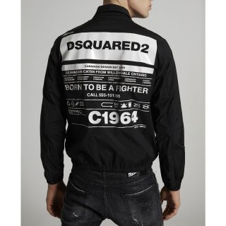 <img class='new_mark_img1' src='https://img.shop-pro.jp/img/new/icons1.gif' style='border:none;display:inline;margin:0px;padding:0px;width:auto;' />DSQUARED 2|ディースクエアード メンズ通販|大阪正規取扱店舗|最短翌日着|バックプリント ナイロンブルゾン|ブラック