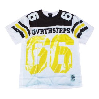 OVER THE STRiPES|オーバーザストライプス 通販|大阪正規取扱店|66プリント 半袖Tシャツ|ホワイト