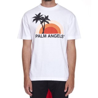 <img class='new_mark_img1' src='https://img.shop-pro.jp/img/new/icons1.gif' style='border:none;display:inline;margin:0px;padding:0px;width:auto;' />Palm Angels|パームエンジェルス メンズ通販|大阪正規取扱店舗|最短翌日着|SUNSET 半袖Tシャツ|ホワイト