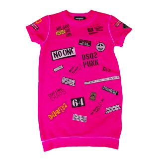 <img class='new_mark_img1' src='https://img.shop-pro.jp/img/new/icons1.gif' style='border:none;display:inline;margin:0px;padding:0px;width:auto;' />DSQUARED2 KIDS|ディースクエアード キッズ 通販|PUNK 半袖ワンピース|ピンク