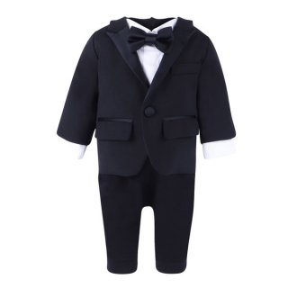 <img class='new_mark_img1' src='https://img.shop-pro.jp/img/new/icons1.gif' style='border:none;display:inline;margin:0px;padding:0px;width:auto;' />DSQUARED2 KIDS|ディースクエアード キッズ 通販|タキシード ロンパース|ブラック