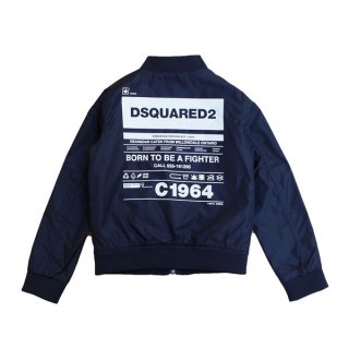 <img class='new_mark_img1' src='https://img.shop-pro.jp/img/new/icons1.gif' style='border:none;display:inline;margin:0px;padding:0px;width:auto;' />【ラスト1点】DSQUARED2 KIDS|ディースクエアード キッズ 通販|C1964 ブルゾン|ブラック