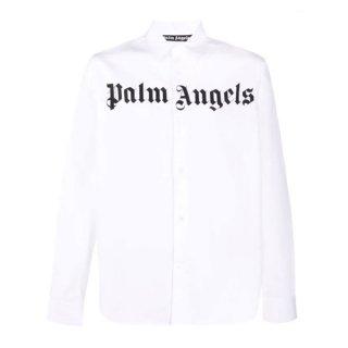 <img class='new_mark_img1' src='https://img.shop-pro.jp/img/new/icons1.gif' style='border:none;display:inline;margin:0px;padding:0px;width:auto;' />【ラスト1点】 Palm Angels|パームエンジェルス メンズ通販|大阪正規取扱店舗|最短翌日着|CLASSIC LOGO SHIRT|ホワイト