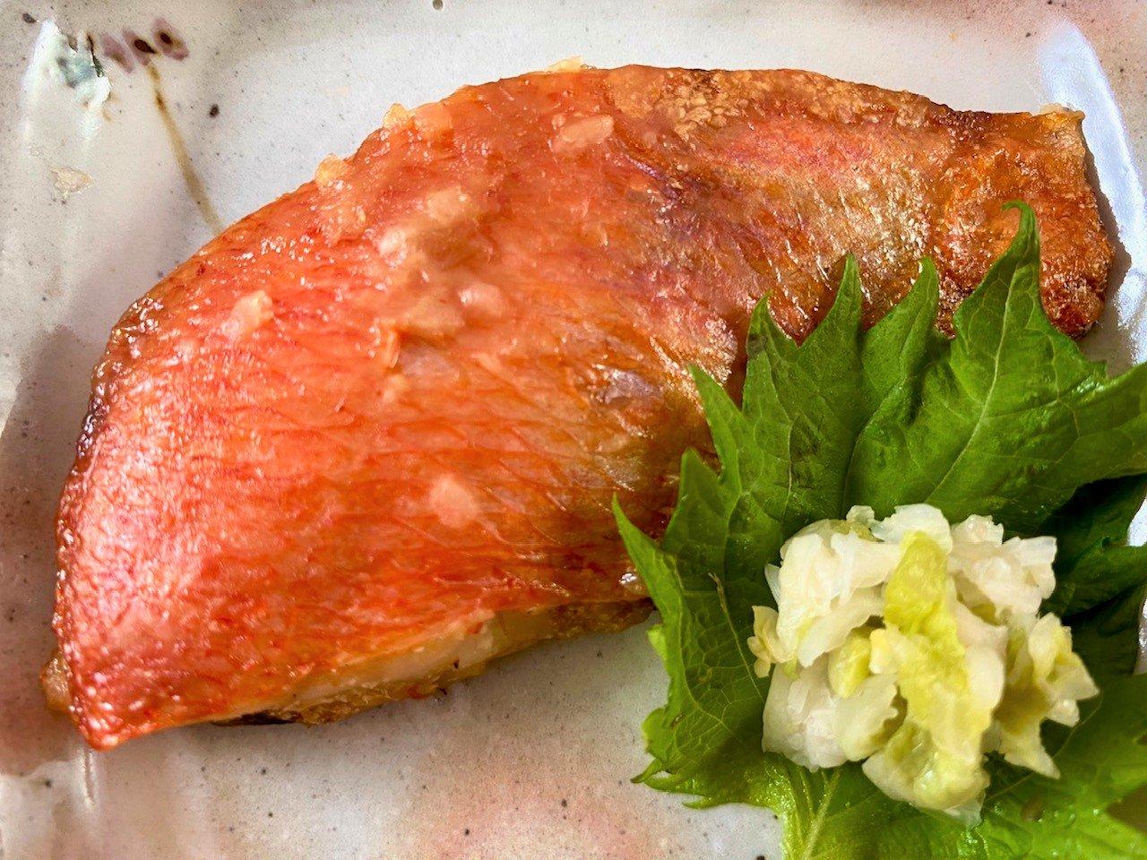 【グリルを汚さず、骨とり焼き魚!】金目鯛 甘味噌焼き