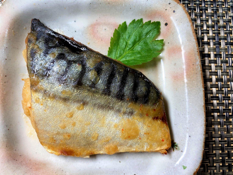 【グリルを汚さず、骨とり焼き魚!】サバ 甘味噌焼き