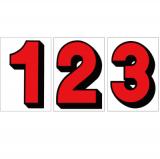 スチール製 プライスボード用数字 AS−6 10枚セット