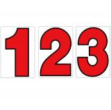 スチール製 プライスボード用数字 AS−15 10枚セット