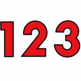 スチール製 プライスボード用数字 AS−45 10枚セット