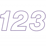 スチール製 プライスボード用数字 AS−47 10枚セット