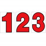 サンドイッチ合板 (SK) 製 プライスボード用数字 SK−7 10枚セット