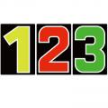 サンドイッチ合板 (SK) 製 プライスボード用数字 SK−14 10枚セット