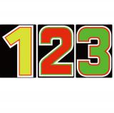サンドイッチ合板 (SK) 製 プライスボード用数字 SK−22 10枚セット